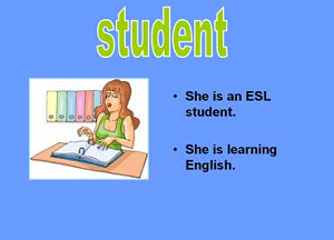 esl student is learning English