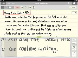 ipad note taker hd