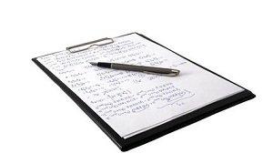 clipboard list