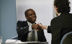 black man job interview