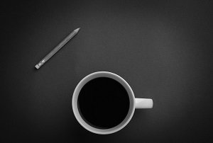 coffee black and white